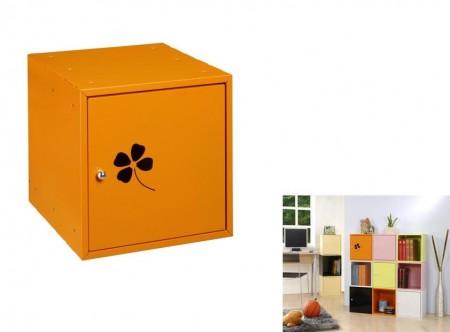 Orange Square Storage Box