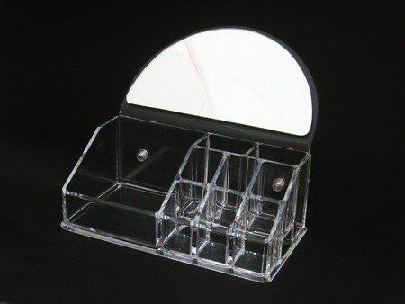 Cosmetic Organizer With Mirror