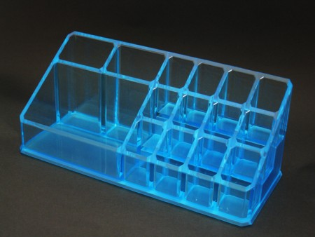 Blue Acrylic Cosmetics Organizer