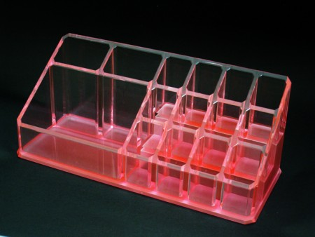 Orange Acrylic Cosmetics Organizer