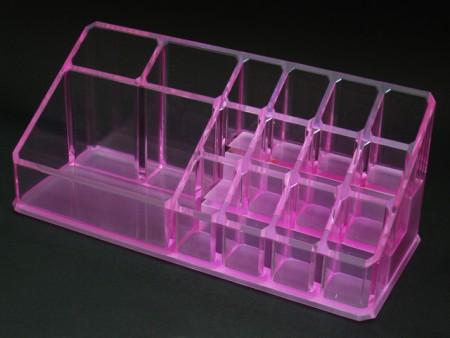 Pink Acrylic Cosmetics Organizer