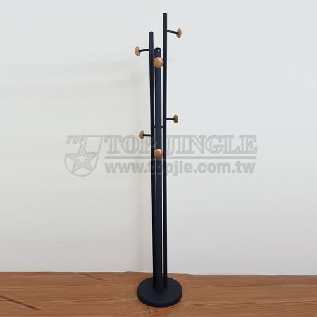 6 Wooden Knobs Coat Stand