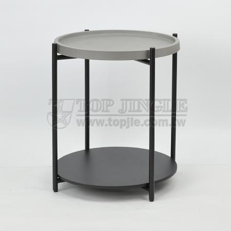 2-Tier Round Shape Coffee Table