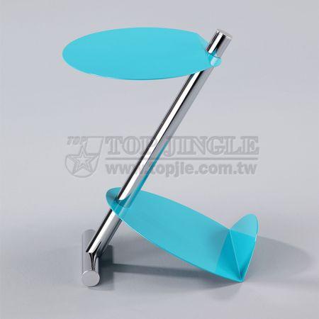 Z-образный маленький журнальный столик