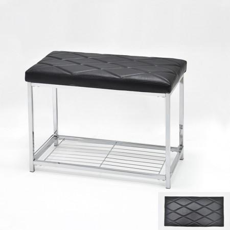 大菱格紋造型雙椅