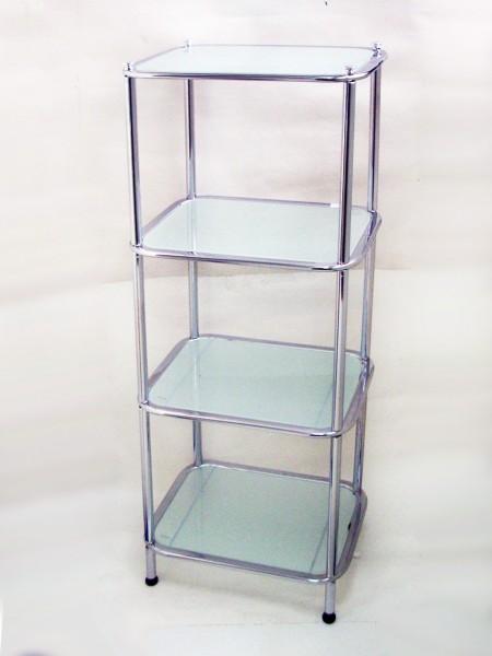 橢圓管長方四層玻璃架