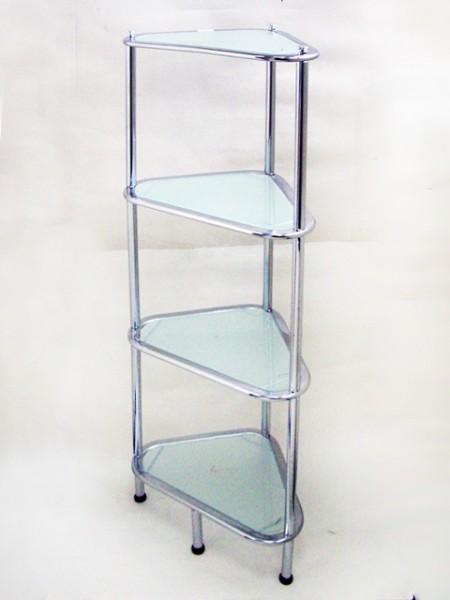 橢圓管三角型四層玻璃架