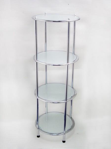 橢圓管圓型四層玻璃架