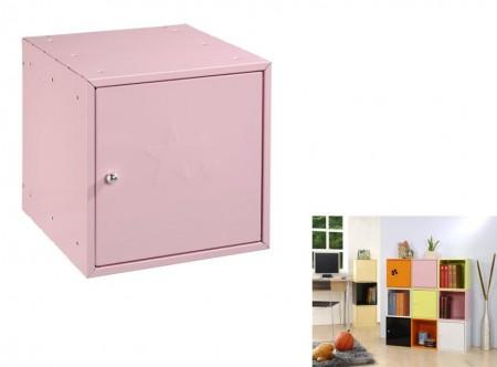 粉紅色方形置物箱