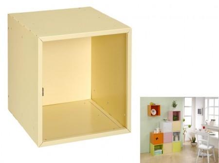 黃色方形置物箱
