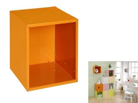 橘色方形置物箱