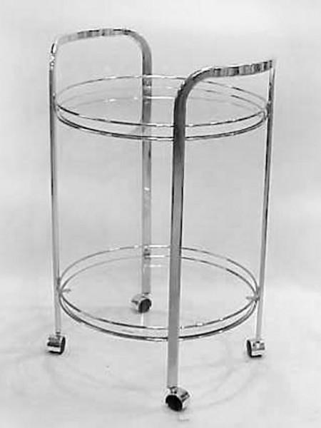 組裝二層圓玻璃餐車