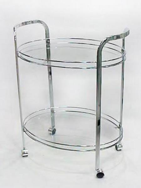 組裝二層橢圓玻璃餐車