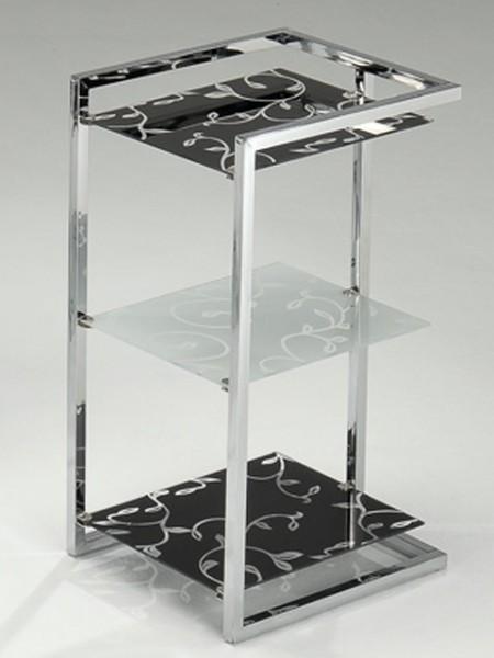 玻璃印花三層架