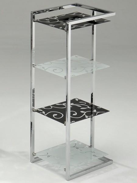 玻璃印花四層架