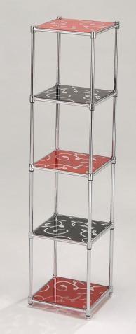 玻璃印花五層架