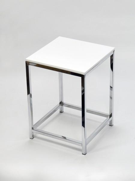 白色方型壓克力方管單椅
