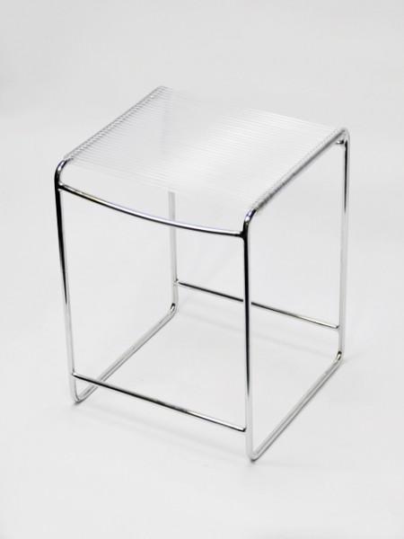 白色正方鐵線彈力繩椅