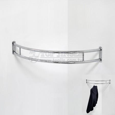 鎖壁牆角弧型衣架