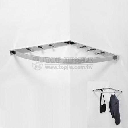 鎖壁牆角扇型衣架