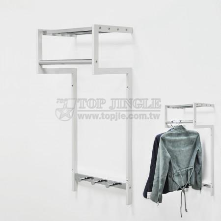 5造型鎖壁掛衣架(小)