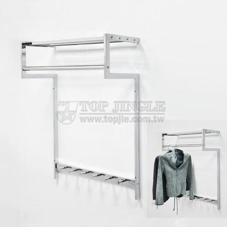 5造型鎖壁掛衣架(大)