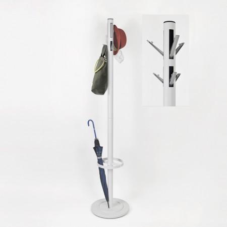 極簡造型可收納掛勾衣物傘架