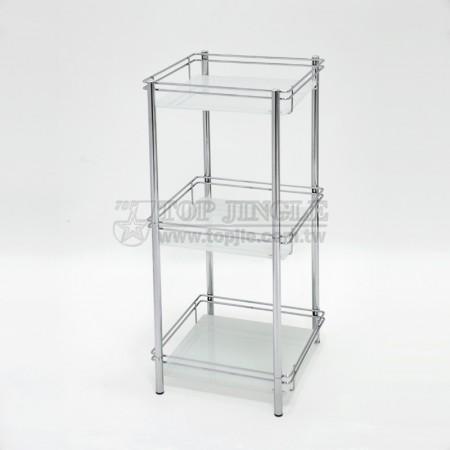 三層玻璃架