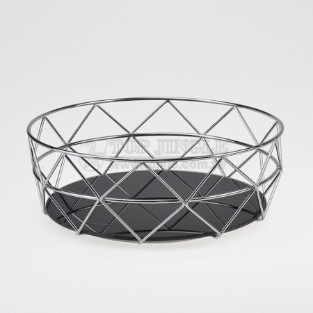 圓鐵線菱格造型水果籃