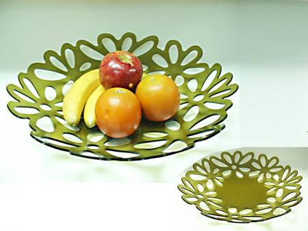 Фруктовая тарелка с цветочным узором