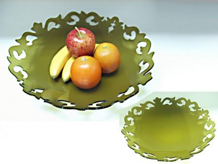 Тарелка с фруктами в стиле барокко