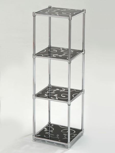 4層ガラス棚