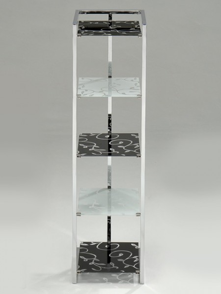 E Shaped Glass Shelf