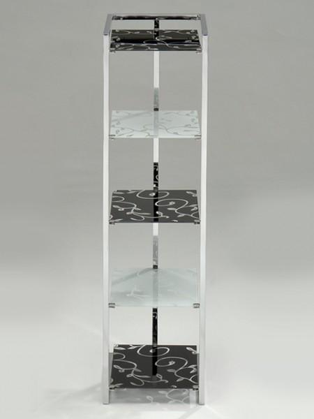 E字型ガラス棚