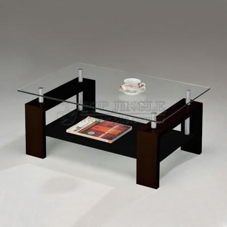 Table en verre à 2 niveaux