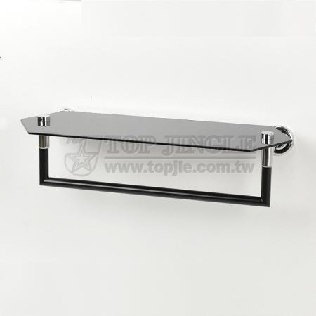 Настенная стеклянная полка