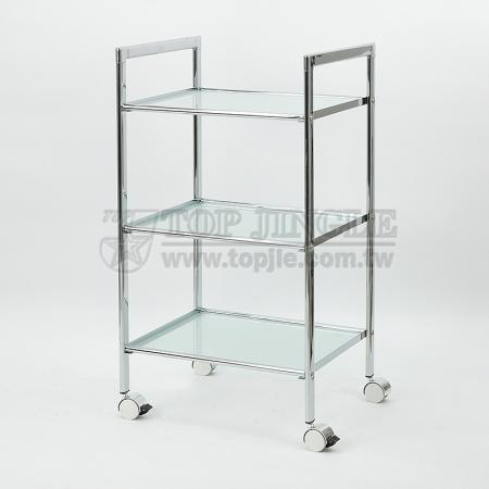 3-Tier Glass Shelf Trolley