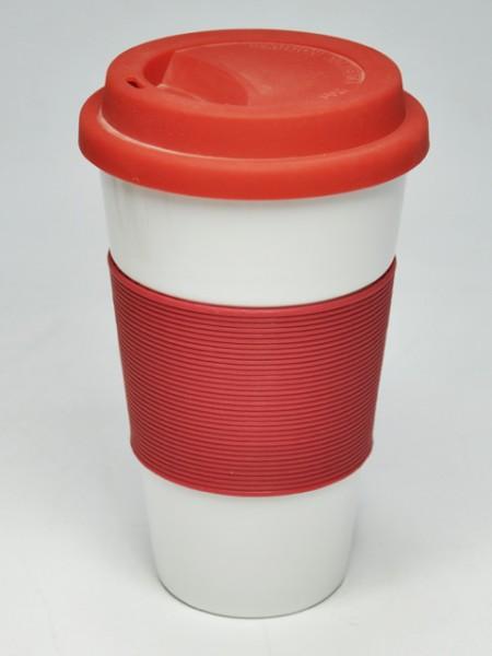 紅色套理圓錐型環保杯