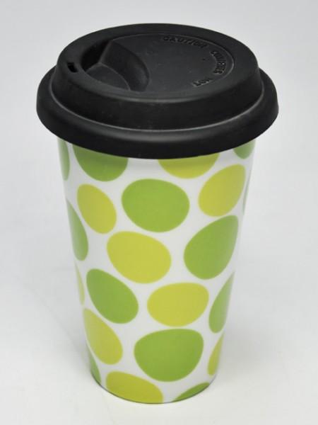 綠色印刷圓錐型環保杯