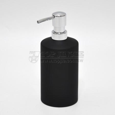 黑色圓柱型乳液罐