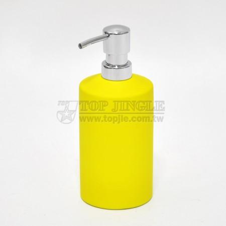 黃色圓柱型乳液罐