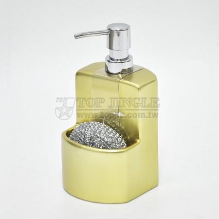 金色廚房陶瓷乳液及刷球架