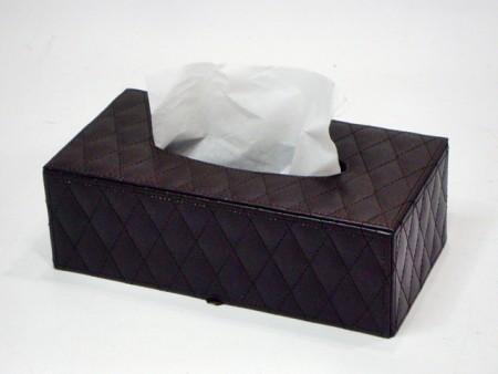 斜菱格紋長方紙巾盒