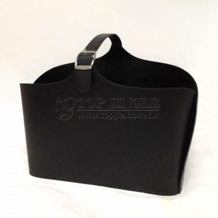 黑色長方型手提籃