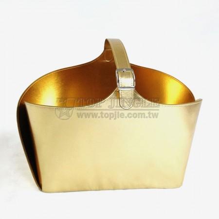 金色長方型手提籃