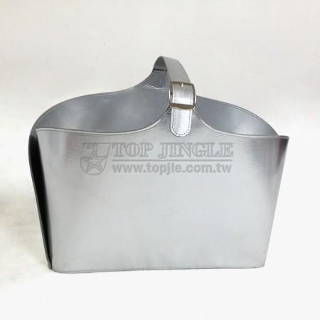 銀色長方型手提籃