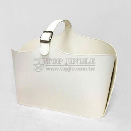 白色長方型手提籃