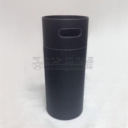 大圓柱型編織紋皮傘桶