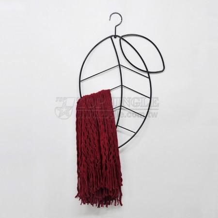 葉子造型鐵線圍巾架