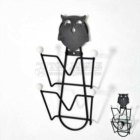 貓頭鷹系列鎖壁鍋蓋架